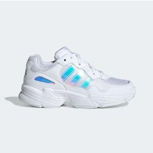 Scarpa Adidas Yung-96C bianco olografico bimba art.EE6741