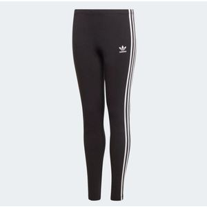 Legging 3 strisce Adidas Nero bianco bimba art.ED7820