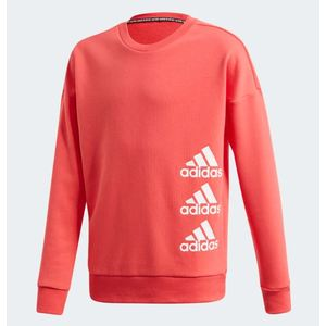 Felpa Adidas girocollo Must Have Crew core pink white bimba art.FL1799