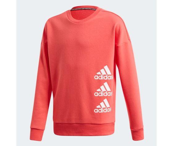 Felpa adidas girocollo must have crew core pink white bimba art %282%29