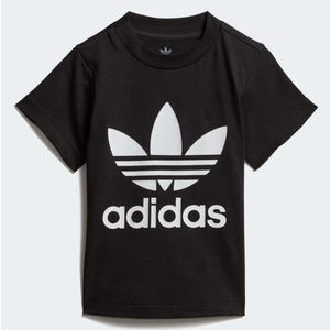 Maglietta Adidas Trefoil Tee bianco nero bimbi art.DV2829