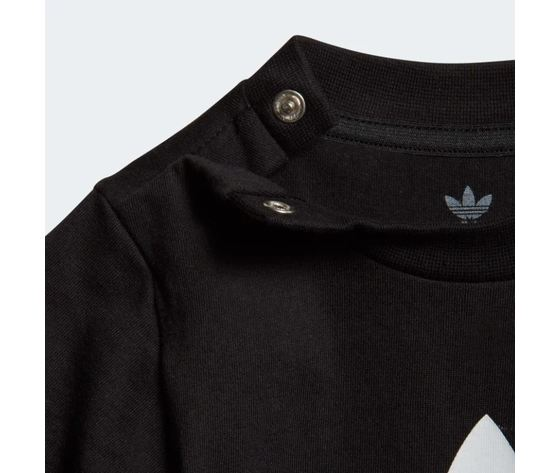 Maglietta adidas trefoil tee bianco nero bimbi art %282%29
