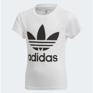 Maglietta Adidas Trefoil Tee nero bianco bambini art.DV2857