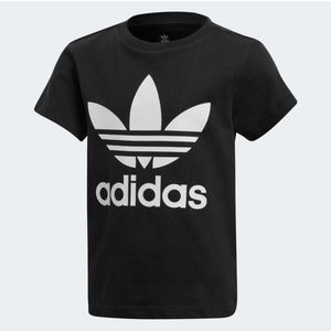Maglietta Adidas Trefoil Tee bianco nero bambini art.DV2858