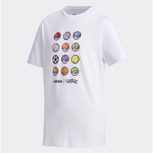 Maglietta Adidas Pokemon Bianca abbigliamento bambini art.FM0667