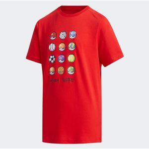 Maglietta Adidas Pokemon Rossa abbigliamento bambini art.FM0668