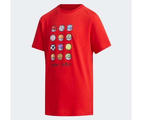 Maglietta adidas pokemon rossa abbigliamento bambini art %282%29