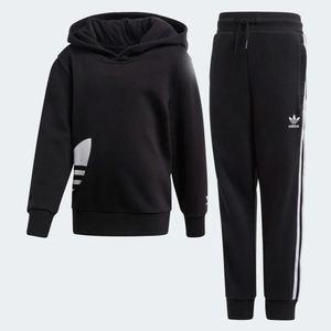 Tuta con cappuccio Adidas Big Trefoil Hoodie nero art.FM5630