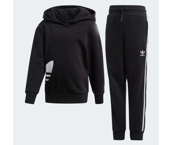 Tuta con cappuccio adidas big trefoil hoodie nero art %282%29