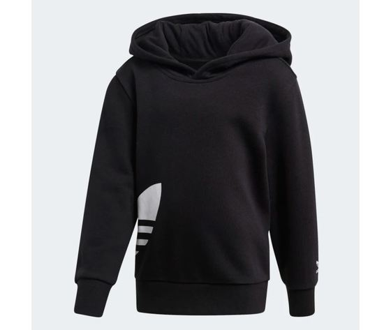 Tuta con cappuccio adidas big trefoil hoodie nero art %283%29