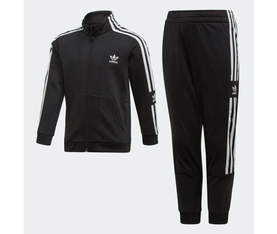 Tuta adidas big trefoil hoodie nero art %282%29