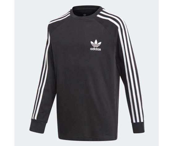 Maglietta a maniche lunghe  adidas 3 stripes nera art %282%29