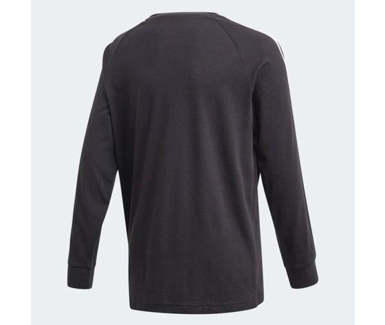 Maglietta a maniche lunghe  adidas 3 stripes nera art %283%29