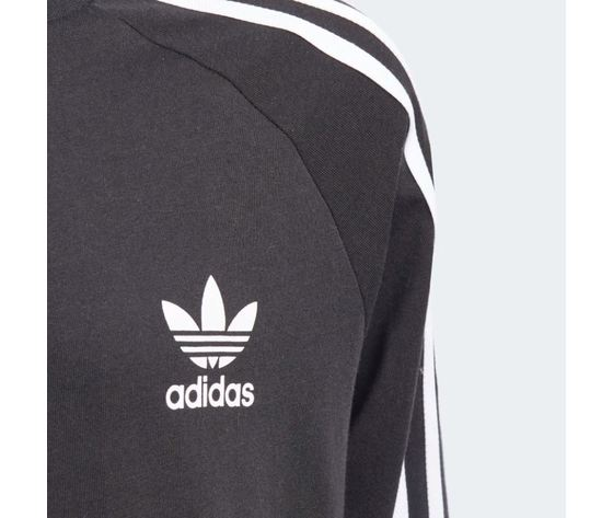 Maglietta a maniche lunghe  adidas 3 stripes nera art %284%29