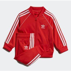 Completo Adidas Tuta Track Suit sst rossa bambini art.FM5585