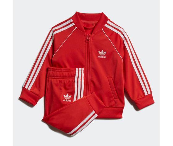 Completo adidas tuta track suit sst rossa bambini art %282%29