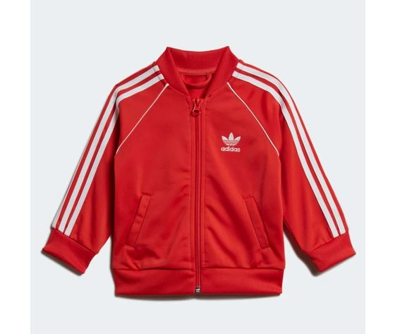 Completo adidas tuta track suit sst rossa bambini art %283%29