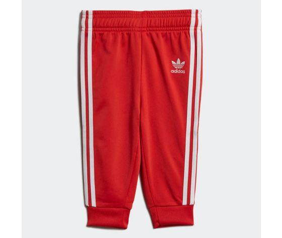 Completo adidas tuta track suit sst rossa bambini art %284%29