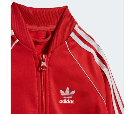 Completo adidas tuta track suit sst rossa bambini art %281%29