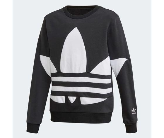 Felpa Adidas Big Trefoil Crew Nera bambini art.FS1852