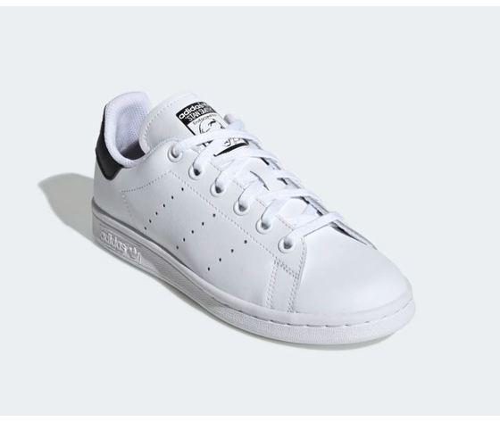 Scarpa adidas stan smith bianco tallone scritta nero donna art %283%29