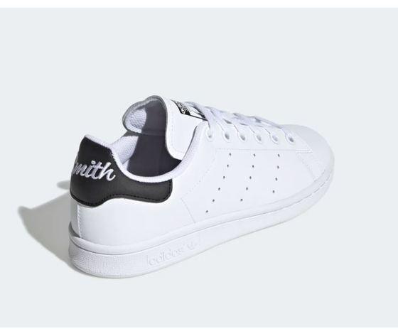 Scarpa adidas stan smith bianco tallone scritta nero donna art %284%29