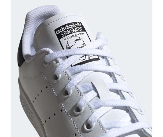 Scarpa adidas stan smith bianco tallone scritta nero donna art %285%29