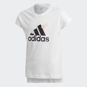 T-shirt Adidas bianca ragazza Graphic Pop art. FM4485