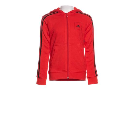 Al di là Monte Kilauea progettista  Adidas Giacca con cappuccio in cotone con zip Rosso Bande strisce Nere  Ragazzi art. FM4837 - colbaffo