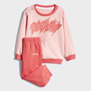 completo Adidas Tuta due pezzi Rosa Coral bambina neonati art. FM0653
