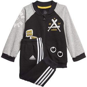 Adidas Completo Tuta Nero- Giallo Bambini FM6405