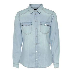 camicia slim jeans chiaro