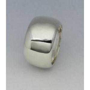 Anello in argento modello fascione bombato