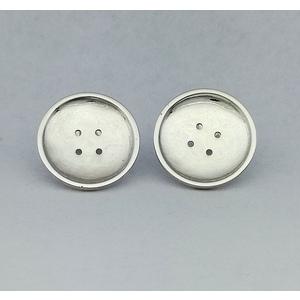 Orecchini in argento modello bottone