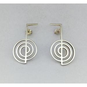 Orecchini in argento modello Choku rei (simbolo reiki)