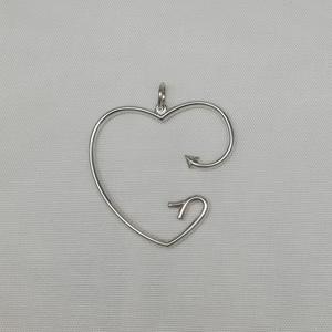 Pendente in argento modello cuore freccia
