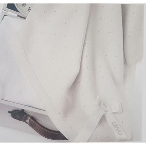 Coperta culla carrozzino Liu Jo in puro cotone art. Fiocco
