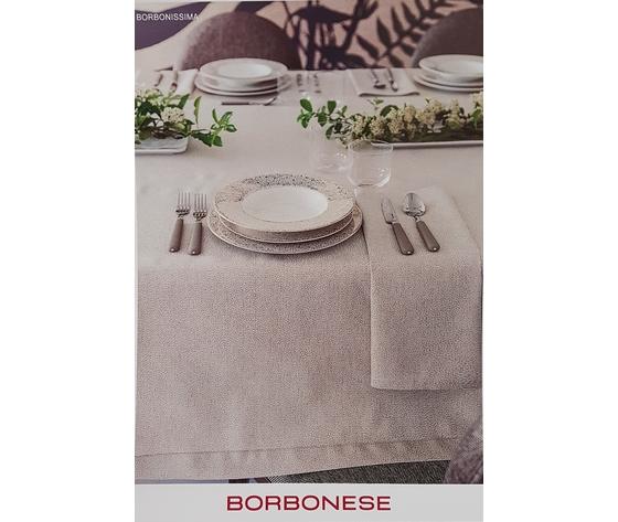 Servizio Tavola Borbonese art. Borbonissima 170x270 x12 posti var. Ecru