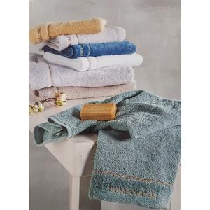 Asciugamani set 5 pezzi Borbonese FINE OP in spugna con logo ricamato