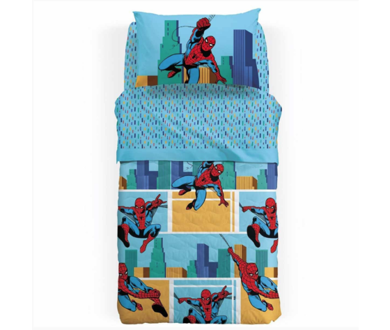Trapunta invernale Spiderman America Marvel Caleffi