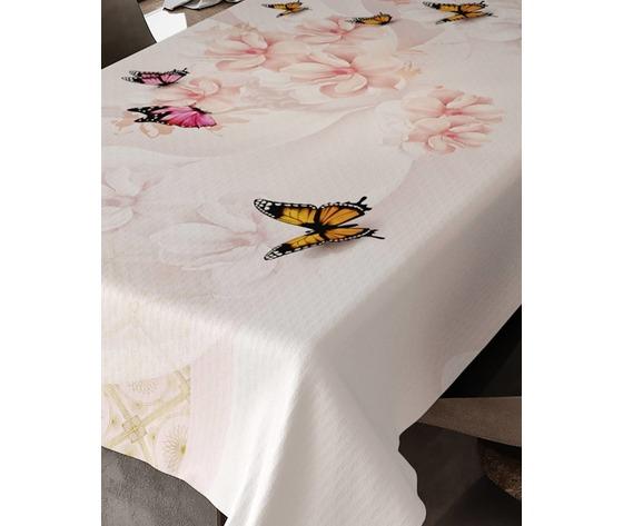 Tovaglia x8posti in Puro Cotone Stampa Digitale Emily art. Impollinazione