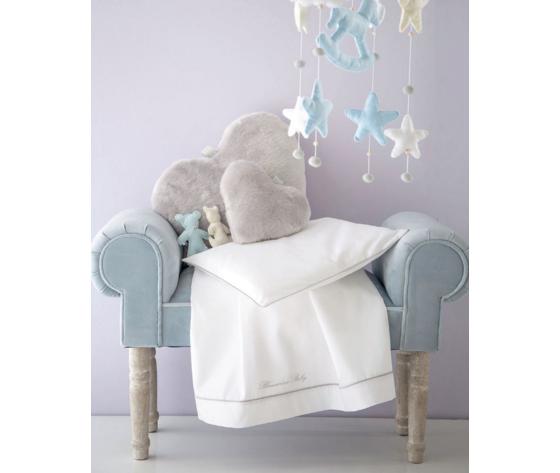 Completo Lenzuola Culla e Carrozzino Blumarine baby art Baby Blu