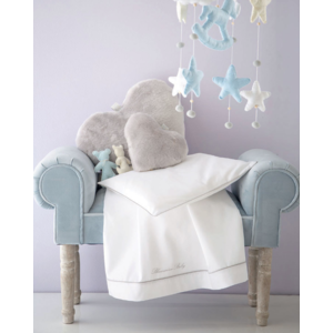Completo Lenzuola Lettino sponde Blumarine baby art Baby Blu