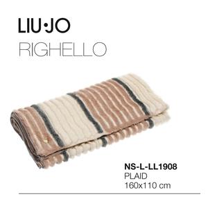 Plaid LIU JO in ecopelliccia serie RIGHELLO 160x110