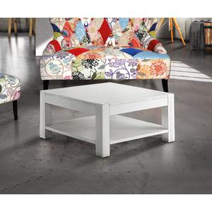 BARRY - Tavolino in abete massiccio e spazzolato