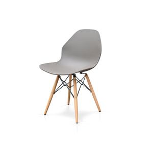 GAIA  - Sedia in PP con gambe in legno