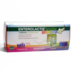 Enterolactis bevibile bambini 12 flaconcini