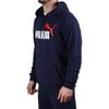 Puma sudadera essentials 2 col big logo hoodie training peacoat azul hombre