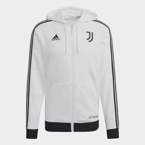 JUVENTUS 3-STRIPES FULLZIP HOODY WHITE/BLACK
