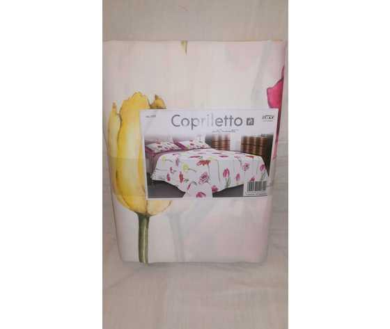 Copriletto Matrimoniale  Marta Marzotto disegno 1192 Fantasia Tulipani